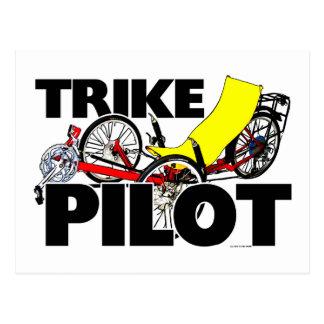 Trike Pilot Postkarte