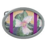 Trillium peint boucles de ceinture ovales