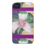 Trillium peint coque Case-Mate iPhone 4