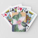 Trillium peint jeu de 52 cartes