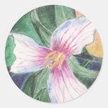 Trillium peint ! sticker rond