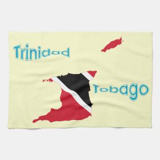 Trinidad und Tobago-Flaggen-Karte Küchenhandtücher
