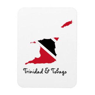 Trinidad und Tobago-Flaggen-Karte Magnet