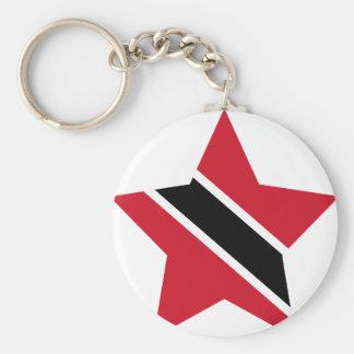 Trinidad+und+Tobago-Stern Standard Runder Schlüsselanhänger