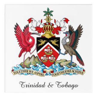 Trinidad und Tobago-Wappen Acryldruck