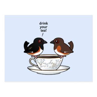 Trinken Sie Ihren Tee! Postkarte