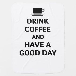 Trinken Sie Kaffee und haben Sie einen guten Tag Puckdecke
