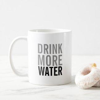 Trinken Sie mehr einfachen Minimalisten des Kaffeetasse