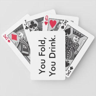 Trinkender Kartensatz Poker Karten