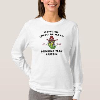 Trinkender Team-Kapitän Ladys Cinco Des Mayo T-Shirt