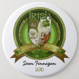 Trinker u. Denker - irischer Segen Runder Button 15,3 Cm