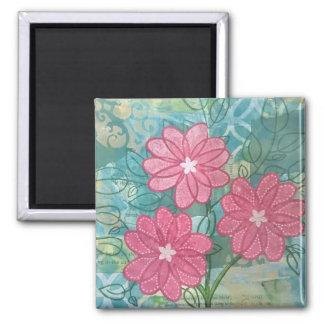 Trio der wunderlichen Blumen Quadratischer Magnet