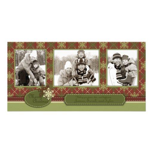 Trio traditionnel de carte photo de Noël Cartes De Vœux Avec Photo