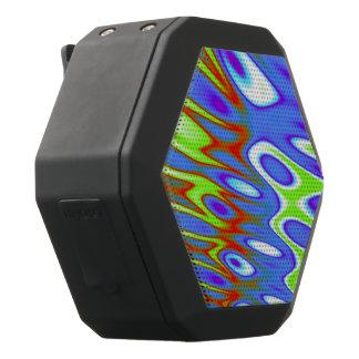 Trippy blaues Grün-weißes abstraktes Schwarze Bluetooth Lautsprecher