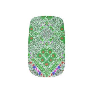 Trippy Leuchtstoff grünes abstraktes Minx Nagelkunst