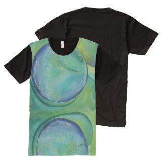Trippy/psychedelischer/Surreal Kunst-Druck-T - T-Shirt Mit Komplett Bedruckbarer Vorderseite