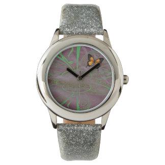 Trippy Schmetterlings-Zeit Armbanduhr