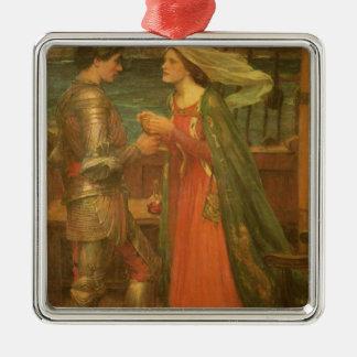 Tristan und Isolde durch Waterhouse, Vintage feine Silbernes Ornament