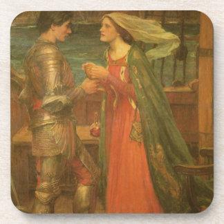 Tristan und Isolde durch Waterhouse, Vintage feine Untersetzer