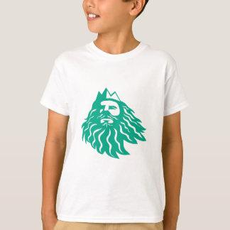 Triton, der oben Retro schaut T-Shirt