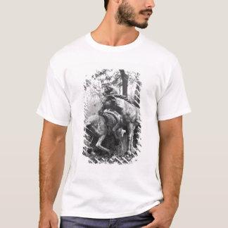 Triton, die herein zwei Pferde der Sonne pflegen T-Shirt