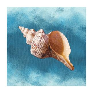 Tritonshorn-Muschel auf Leinwand