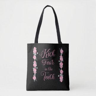 Tritt-Furcht in der Zahn-rosa Rosen-Taschen-Tasche Tasche