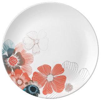 Trockene Blumenblatt-dekorative Platte Porzellanteller