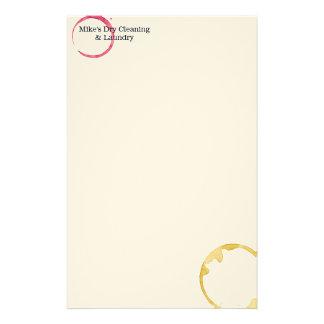 Trockenreinigungs- u. Wäschereiweinfleck ist nicht Briefpapier