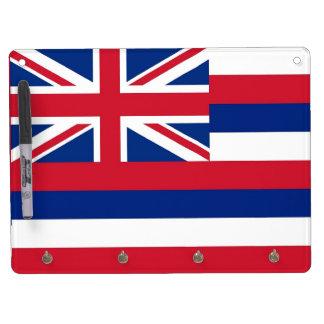 Trocknen Sie Löschen-Brett mit Flagge von Hawaii, Trockenlöschtafel Mit Schlüsselanhängern