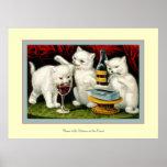 Trois chatons gais posters