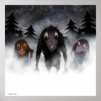 Trois trolls drôles de monstre poster