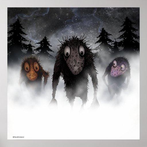Trois trolls drôles de monstre