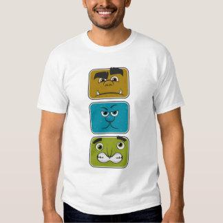 Trois visages de monstre tee shirts