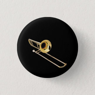 """""""Trombone"""" Entwurfsgeschenke und -produkte Runder Button 2,5 Cm"""