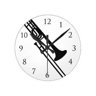 Trombone-Wand-Klicken Wanduhren