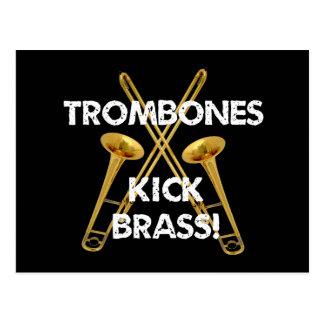 Trombones-Tritt-Messing! Postkarte