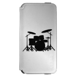 Trommel-Set-Musik-Entwurf Incipio Watson™ iPhone 6 Geldbörsen Hülle