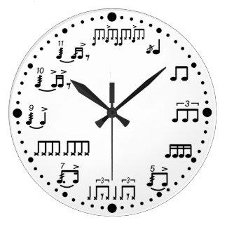 Trommelanmerkungs-und Rudiments-Musik-Uhr für Wanduhren