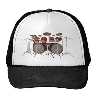 Trommeln: Rote Trommel-Ausrüstung: Modell 3D: Retrokultmütze
