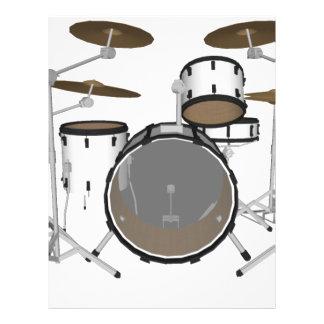 Trommeln: Weiße Trommel-Ausrüstung: Modell 3D: 21,6 X 27,9 Cm Flyer