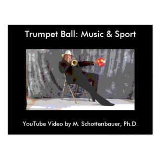 Trompete-Ball: Musik-u. Sport-Postkarte 7 Postkarte