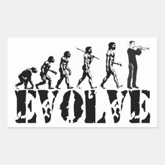 Trompete-Kornett-Signalhorn-Band-musikalische Rechteckiger Aufkleber