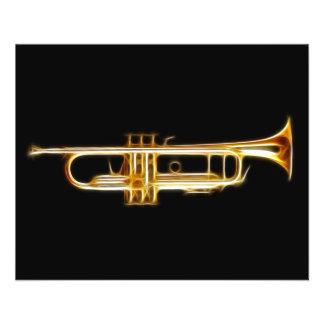 Trompete-Messinghorn-Wind-Musikinstrument 11,4 X 14,2 Cm Flyer