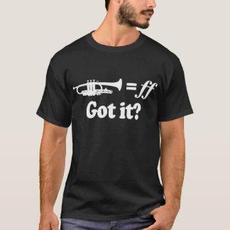 Trompete-Musik-Dynamik-Haltungs-T-Stück T-Shirt