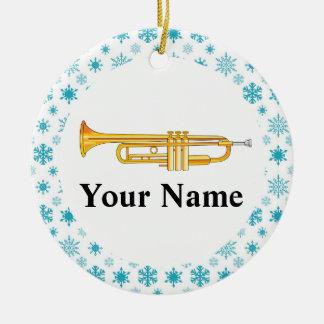 Trompete-personalisiertes Musik-Band-Weihnachten Keramik Ornament