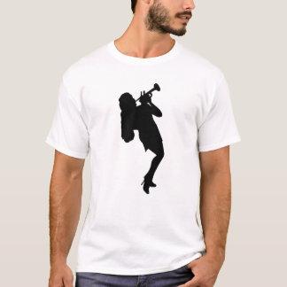 Trompete-Spieler-Silhouette T-Shirt