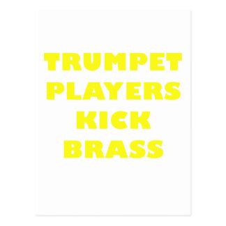 Trompeters-Tritt-Messing Postkarte