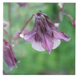 Tröpfchen-Blumen Große Quadratische Fliese