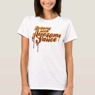 Tropfen mit fantastische Soßelustiger T-Shirt